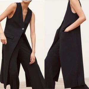 Zara Long Blazer Vest.